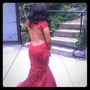 Gorgeous Red CLARISSE Dress Size 6 Prom Couture